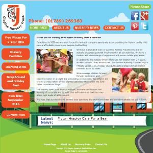 Clopton Nursery  by Buzz Website Design in Leicester
