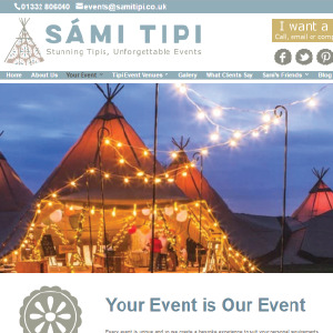Sami Tipi by Buzz Website Design in Leicester